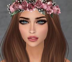 Madison In Bree  rose crown (Risa Bright) Tags: laq avatar bentomeshhead secondlife rosecrown laqroki