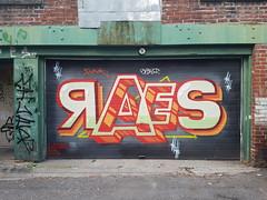 RAES (Coastal Elite) Tags: mileend alley north parc avenue montreal ruelles ruelle alleys alleyway alleyways graffiti walking montréal streetart urban city life street art urbain mile end raes garage porte door