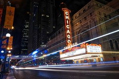 Chicago Theatre, State Street, Chicago (Symbiosis) Tags: chicagotheatre statestreet chicago chicagoskyline marquee chicagomarquee signs motion chicagotraffic johnprine