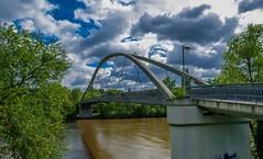 Arthur-von-Weinberg Steg... (hobbit68) Tags: steg himmel frankfurt fechenheim bridge brücken wasser water river main baum tree sky fluss wolken clouds blau blue