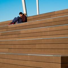 Alejandro Zaera. Duna Santander #8 (Ximo Michavila) Tags: alejandrozaera duna santander cantabria spain architecture archdaily archiref archidose urban sunlight blue sky day clear city ximomichavila square 11 wood lines geometry