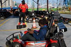 Go-Kart (dtanist) Tags: nyc newyork newyorkcity new york city sony a7 konica hexanon 40mm brooklyn coney island gokart gokarts track amusements