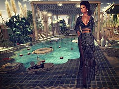A Fairytale site (kare Karas) Tags: woman lady femme girl girly sweet beauty pretty sensual seduce seductive magic fantasy outdoors fairytale virtual avatar secondlife game fun gown elegant gorgeous may spring mesh colors jewelry hair fashion jumo rezology