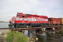 Nice Day on the Water (AndyWS formerly_WisconsinSkies) Tags: train railroad railway railfan wisconsinandsouthern wsor watco wamx emd gp392 locomotive bridge