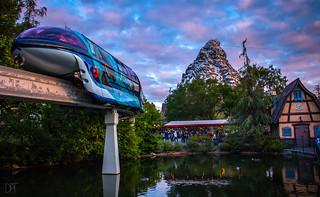Monorail and Matterhorn Sunset 5_12_2018 *EXPLORE*