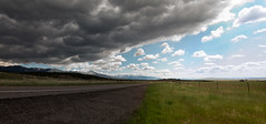 Storm Over the Interstate (BHuij) Tags: 100 15 i i15 canon cloud clouds george interstate multi multirow ps pano panorama point power powershot road row s s100 saint shoot shot st storm trip nature landscape