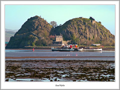 The Rock and A Paddle Steamer (flatfoot471) Tags: 2006 april castle dumbarton dumbartonrock gorse merchant normal paddlesteamer plant pswaverley renfrewshire riverclyde scotland ships spring unitedkingdom westdunbartonshire westferry langbank gbr