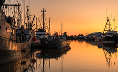 Sailor's delight (StephenJayPhoto) Tags: photo photography nature sun sky water ships vancouver steveston bc color orange yellow red boats landscape sunset pier dock trees beautiful beach dof