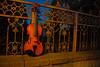 Violin (Mikael Aron) Tags: violin night orange music musikk