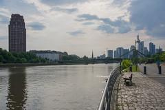 Skyline Frankfurt (Anja-Photographie) Tags: frankfurt skyline main mainufer osten ostend
