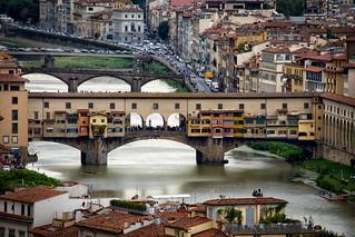 Los puentes del Arno. Florencia.