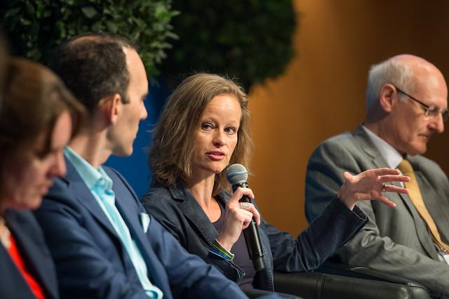 Karen Vancluysen addressing the panellists