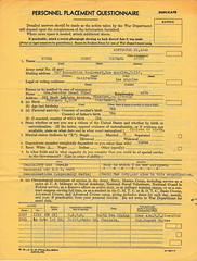 Heinz Rubel Army Chaplain Placement Forms (rubelcastle) Tags: henryscottrubel henryrubel heinzrubel halraynor chaplain army wwi wwii personnel questionnaire lisbon portugal californiastateguard rearadmiral wtcluverius colruperthughes usnr glendora ca usa