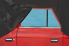 (Kirill Dorokhov) Tags: red door retro oldies contemporaryart art covered car abstract fragment classic азлк москвич 412 window