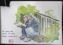Les dames du mess (chando*) Tags: aquarelle croquis sketch watercolor