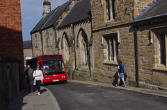 IMGP9282 (Steve Guess) Tags: durham cathedral university england gb uk unesco world heritage site bus goahead north east optare solo northbailey