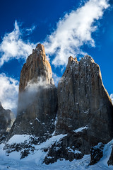 Las Torres (view full-screen) (Piotr_PopUp) Tags: lastorres torresdelpaine patagonia chile ultimaesperanza mountain mountains torre torrres tower towers rock rocks landscape nature cloud clouds latinamerica southamerica
