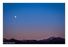 full moon...in the sky of Mt washigasu #2 (kouji fujiwara) Tags: fujifilmxt2 fujifilm xt2 fujinon xf1655mmf28 xf1655mm f28 mountain mountainview mtwashigasu moon fullmoon full evening dusk