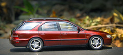 Honda Accord Wagon (vitaraman) Tags: aoshima honda accord us wagon recaro wood panel red mica