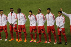 The Peru national team before their match with Iceland. (Hazboy) Tags: hazboy hazboy1 island peru iceland friendly game match football soccer futbol red bull arena harrison nj new jersey march 2018