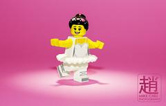 Ballerina (mikechiu86) Tags: lego minifigure series collectible ballet ballerina plié dancing toy spotlight pink white crazy arms straight elbow crazybrickscom
