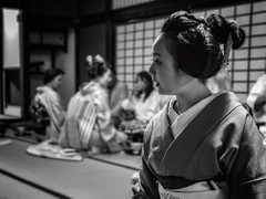The Gion Geiko Mikako (Rekishi no Tabi) Tags: geiko geisha geigi kyoto gion gionkobu japan leica monochrome kimono