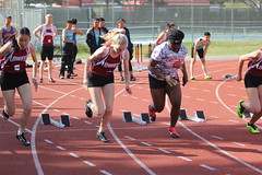 IMG_8485 (susanw210) Tags: track running trackandfield teamwork atheletes students highschool team jumping hurdles lowell cardinals highschoolsports