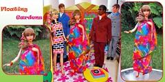 FLOATING GARDENS (ModBarbieLover) Tags: floating gardens barbie mod vintage fashion doll 1967 print blonde ponytail mattel sari jersey ken brad talking