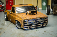 Tamiya TA02 Drift Truck SquareBody Build Part1 (Strangely Different) Tags: rceveryday rcratrod squarebody tamiya chevy chevrolet drifttruck scaler scalerc clodbuster drift hobby rccar rc4wd axial traxxas shapeways onroad ta02 vintage scalemodel