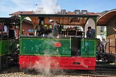 Steam tram loco no 4 at Blonay (TrainsandTravel) Tags: switzerland schweiz suisse narrowgauge voieetroite schmalspurbahn steamtrains trainsàvapeur dampfzüge blonaychamby blonay tramwaylocomotive 040t 4 ferraracodigoro rimininovafeltria