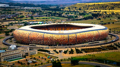 'The Calabash ' - Soccer City! (Raphael de Kadt) Tags: soccercity fnbstadium stadium soweto johannesburg southafrica soccer stadia gauteng 2010 woeldcup helicopter aerial fujufilm fujinon fujifilmxt2