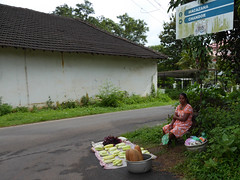 Goa. (Marcello Arduini) Tags: seller streettrading squash bread lady shopkeeper