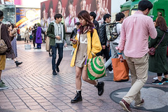 Today's Ensemble (burnt dirt) Tags: asian japan tokyo shibuya station streetphotography documentary candid portrait fujifilm xt1 laugh smile cute sexy latina young girl woman japanese korean thai dress skirt shorts jeans jacket leather pants boots heels stilettos bra stockings tights yogapants leggings couple lovers friends longhair shorthair ponytail cellphone glasses sunglasses blonde brunette redhead tattoo model train bus busstation metro city town downtown sidewalk pretty beautiful selfie fashion pregnant sweater people person costume cosplay yellow purple green brown bag