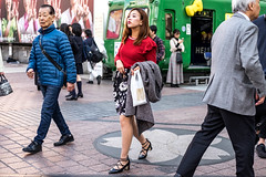 Ruby Red Lips And Swaying Hips (burnt dirt) Tags: asian japan tokyo shibuya station streetphotography documentary candid portrait fujifilm xt1 laugh smile cute sexy latina young girl woman japanese korean thai dress skirt shorts jeans jacket leather pants boots heels stilettos bra stockings tights yogapants leggings couple lovers friends longhair shorthair ponytail cellphone glasses sunglasses blonde brunette redhead tattoo model train bus busstation metro city town downtown sidewalk pretty beautiful selfie fashion pregnant sweater people person costume cosplay gray red flower floral black