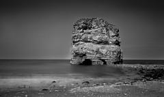 Marsden Stack (daveharman70) Tags: southtyneside sea seascape sealife beachlife water northsea northeast coast sony leefilters sun england spring rocks cliffs geology lighthouse landmark souter marsden longexposure north tide