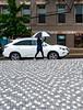 walking in the rain 2 (richard binhammer) Tags: washingtondc street umbrella car bricks