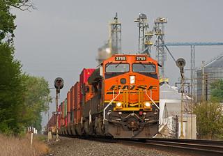 BNSF 3789, NS Chicago Line, Wawaka, Indiana