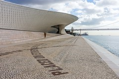 _DSC3421 (durr-architect) Tags: maat museum art architecture technology amanda levete architects modern cultural centre city lisbon portugal riverfront belém historic district national international exhibition space contemporary artists pedestrian roof tejo power station tile facade