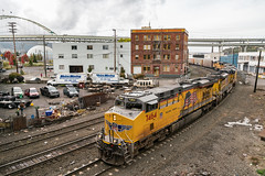 North Coast Seed Studios (sullivan1985) Tags: union pacific unionpacific up ge generalelectric emd electromotive es44ac sd70ace sd70m up7464 up8820 up8106 up4850 up4179 northtillamookstreet albinayard portland oregon freight freighttrain railroad railway locomotive armouryellow bridge fremontbridge i405 northcoastseedstudios curve cloudy train or pnw