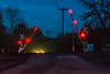 18-2863 (George Hamlin) Tags: virginia amherst railroad grade crossing street highway road depot gates lights trees auto headlights telephone pole photo decor george hamlin photography norfolk southern