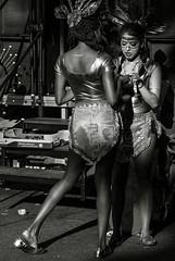 Karneval der Kulturen, Berlin (flowerpopman) Tags: karneval carneval glitter gold blackwhite blackandwhite schwarzweiss girls columbian