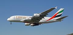 A6-EOU Heathrow 19-04-18 (IanL2) Tags: emirates airbus a380 a6eou london heathrow airport airliners aircraft
