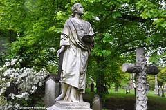 I Heard A Voice From Heaven (Trish Mayo) Tags: greenwood cemetery sculpture cross azaleas spring tombstones gravestones