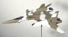 "Macross +++ 1:72 Stonewell/Belcom VF-4A ""Lightning III"" of the U.N. Spacy VAT-127 aggressor squadron (WAVE kit) - WiP (dizzyfugu) Tags: wave vf4 model kit wip lightning iii macross flash back 2012 review building painting anime mecha valkyrie vat127 zentraedi un spacy desert sand brown scheme aggerssor top gun training fictional aviation vf4a this is animation special plus choir tschoir mongolia leader flight academy fighter interceptor orbital canard wing ramjet red star regult pod"