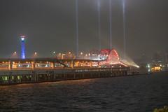 Kobe Ohashi Bridge(神戸大橋) (Hideki Iba) Tags: bridge night rain rainy kobe japan nikon d850 2470 red light sea port harbor architecture hyogo 日本 神戸 神戸港 兵庫 港 港湾 橋 神戸大橋 赤 紅 光 夜