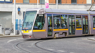 Busáras Luas Tram Stop And Some Trams [Red line Service]-140281