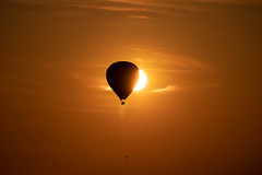 Partial eclipse of the sun (Timmers22) Tags: balloon sunset reading berkshire unitedkingdom gb