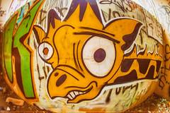Long Neck 4 Life (Thomas Hawk) Tags: america california cossonhall girafa sf sagehall sanfrancisco starburst ti treasureisland usa unitedstates unitedstatesofamerica westcoast abandoned barracks decay giraffe graffiti