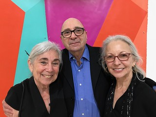 Artist Karen Rifas, Arthur Dunkelman and artist Janet Slom at Karen's opening at The Bass.