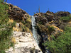 Desert Waterfall (Midnight Believer) Tags: tucsonarizona waterfall sonorandesert nature americansouthwest pimacounty saguaro cactus water